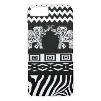 Twin Elephants Black n White iPhone 7 Case