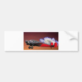 Twin-engine aircraft bumper sticker