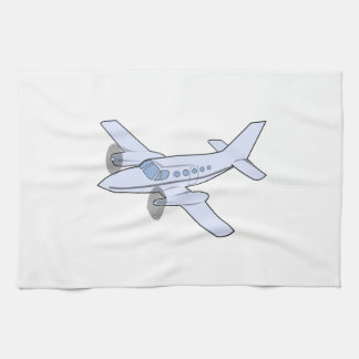 Twin-Engine Airplane Hand Towel