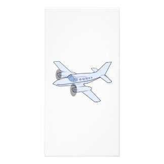 Twin-Engine Airplane Photo Cards