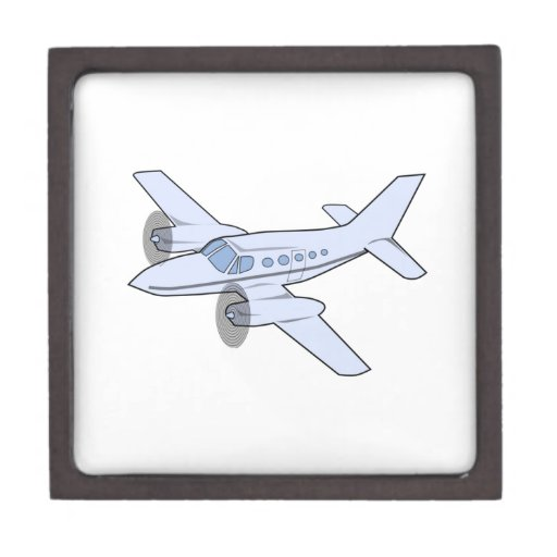 Twin-Engine Airplane Premium Keepsake Box