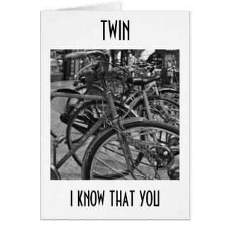 ***TWIN*** ENJOY THE RIDE BIRTHDAY WISHES CARD