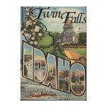 Twin Falls, Idaho - Large Letter Scenes Canvas Print
