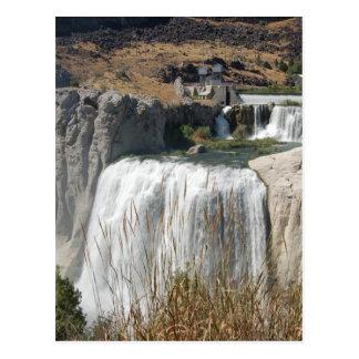 Twin Falls Land Mark Postcard