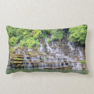 Twin Falls Waterfalls Rock Island St. Park TN Lumbar Pillow