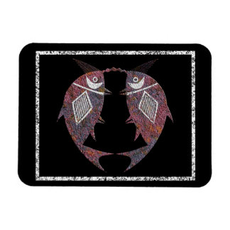 Twin Fish Mimbres Pottery Design Magnet