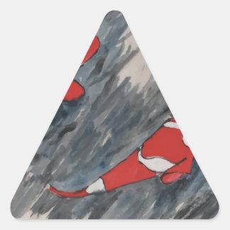 Twin fish triangle sticker