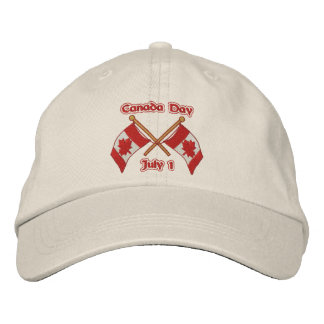 Twin Flags Canada Embroidered Hat