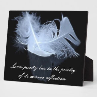 Twin flame feathers and reflection plaque