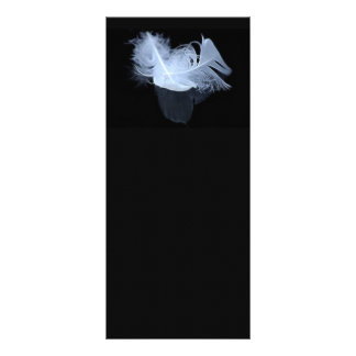 Twin flame feathers and reflection personalized rack card