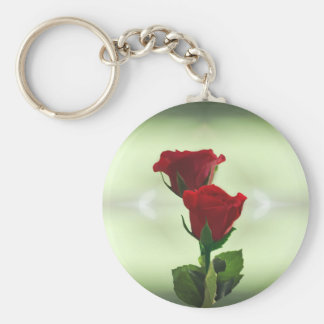 Twin Flame love red roses Keychain