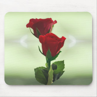 Twin Flame love red roses Mouse Pad
