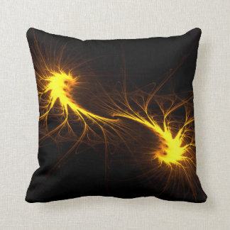 Twin Flames -Abstract Fractal Soul Mate Art Pillow