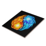 Twin Flames Large Square Tile