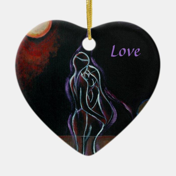 Twin Flames Ornament: Love Ceramic Ornament