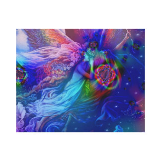 Twin Flames Rising Into Heaven Canvas Print