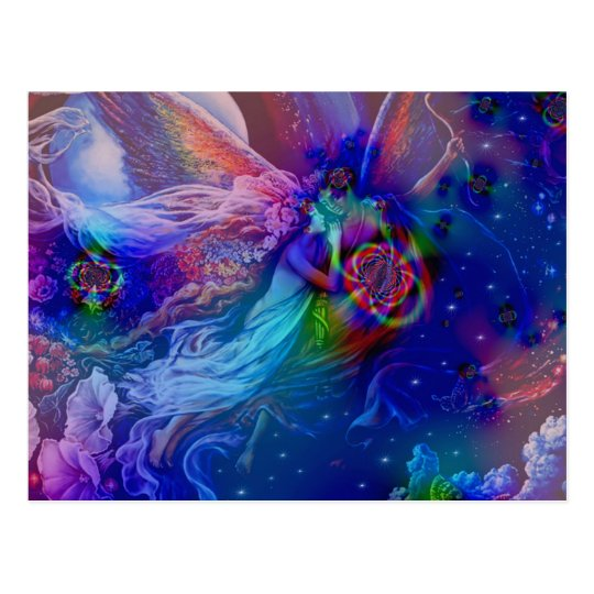Twin Flames Rising Into Heaven Postcard