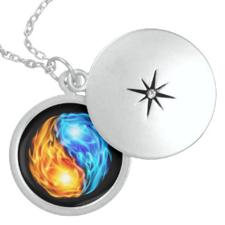 Twin Flames Sterling Silver Necklace
