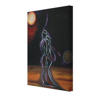 "Twin Flames Wrapped Canvas 18"" x 24"""
