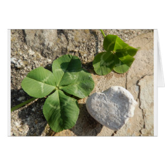 Twin Four Leaf Clover Irish Luck St. Patrick's Day Card