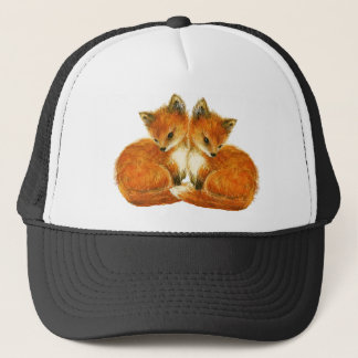 Twin Foxes Trucker Hat