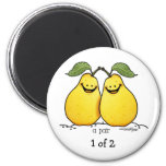 Twin fruits - Perfect Pair 2 Inch Round Magnet