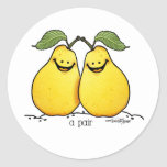 Twin fruits - Perfect Pair Classic Round Sticker