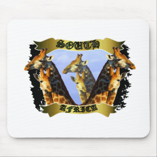 Twin Giraffes Banner Mouse Pad