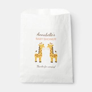 Twin Giraffes Party Favor Bags