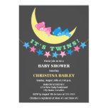 Twin Girl and Boy Teddy Bear Baby Shower Custom Invites