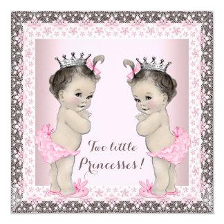 Twin Girl Baby Shower Card
