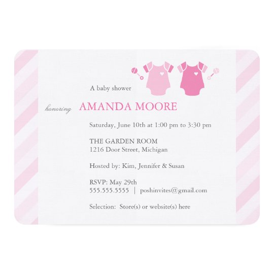 Twin Girl Baby Shower Invitation Zazzle Com