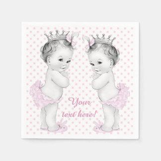 Twin Girl Baby Shower Napkin