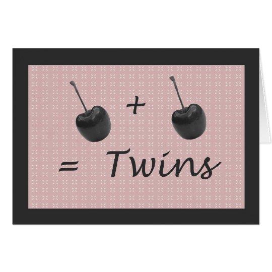 Twin Girl Birth Congratulations Card