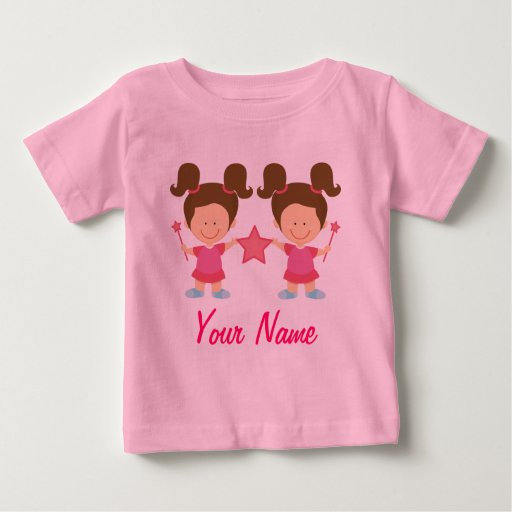 Twin Girl Personalized Gift Baby T Shirt Zazzle