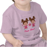 Twin Girl Personalized Gift Tee Shirt