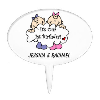 Twin Cake Toppers Zazzle