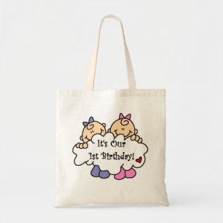 Twin Girls 1st  Birthday Tshirts and Gifts Bags