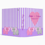 Twin Girls Baby Elephants Custom Binder