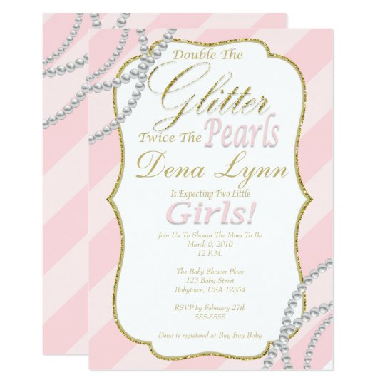 Twin Girls Baby Shower Invitation Zazzle