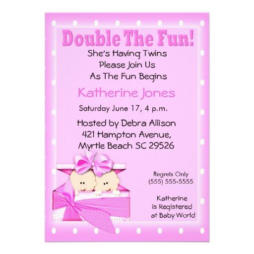 twin girls baby shower invitations r594397bdf8954caca0ddfaac1feb3b6e