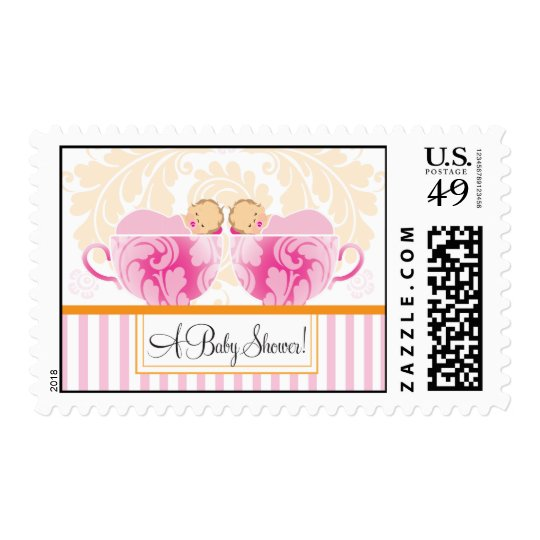 Twin Girls Baby Shower Tea Party  |  Stamp