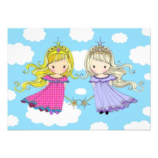 Twin Girls Birthday Party Invites