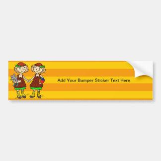 Twin Girls Bumper Sticker