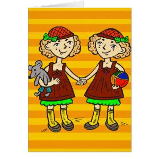 Twin Girls Card