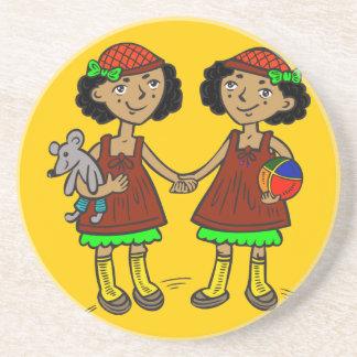 Twin Girls Coaster