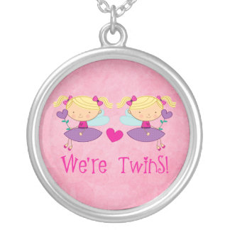 Twin Girls Fairy Necklace For Kids