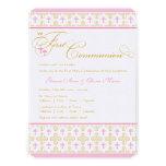 Twin Girls First Communion Invitation Custom Invitation