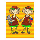 Twin Girls Full Color Flyer