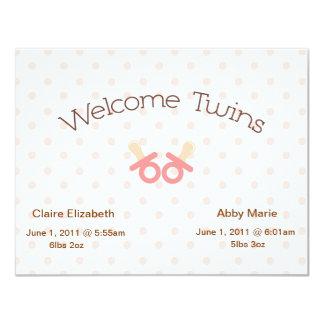Twin Girls Invitation